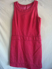 WOMENS AUTH PINK TARTAN SLEEVELESS DRESS NEW PINK SZ 8 RETAIL $475