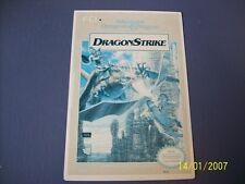 Dragon Strike NES 8 Bit Nintendo Vidpro Card