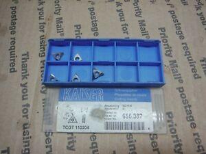 Kaiser 10.655.387 Carbide Inserts Qty5 TCGT 110204 (Stk6)