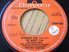 "THE MIGHTY FLEA with MICKEY BAKER - BLOODSHOT EYES  7"" VINYL"