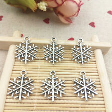 Snowflake,Charm Silver Alloy Pendant,Jewelry Finding Making Diy Accessories,20PC