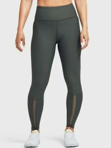 Soul by Soulcycle Women's Mesh Insert Tight Leggings Olive Size M