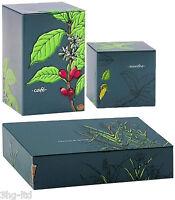 Herbal Design Tea Coffee Sugar Canisters Storage Tins Set Food Box Jars New VJ