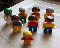 8 VINTAGE LEGO DUPLO FIGURES RACE DRIVER GRANDMA GRANDPA TRAIN DRIVER CHILD