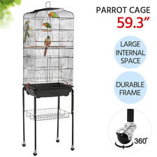 59.3-inch Standing Medium Small Parrot Parakeet Bird Cage w/ Rolling Stand