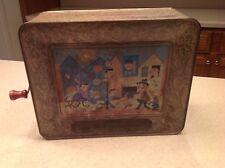 Mattel Antique Tin Litho Music Crank Toy Tippee Tim The Dancing Monkey 1958 CA