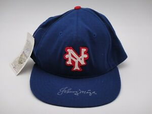 JOHNNY MIZE SIGNED BECKETT CERTIFIED AUTHENTIC NEW YORK GIANTS HAT AUTOGRAPH HOF