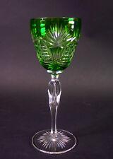 feiner  Kristallglas Römer geschliffen - Tulpenform   - grün überfangen
