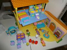 Dora the Explorer Pop Up Talking Dollhouse Playset w/ Doll House Accessories LOT