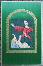 Beautiful Vintage Tapestry Christmas Card, Virgin Mary Madonna