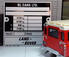 Land Rover Série 3 V8 Lampe Boîte de vitesse Boitier Transfert CHÂSSIS plaque