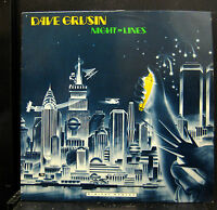 Dave Grusin Night Lines LP Mint- GRP-A-1006 Stereo 1984 Promo WLP Jazz USA