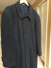 Men's Dress Top Coat 40 R Cashmere Luxury Charcoal Grey ~Andrew Fezza ~ PRISTINE