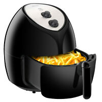 6.3QT Mechanical 1800W Power Air Fryer Home kitchen High Capacity,Black