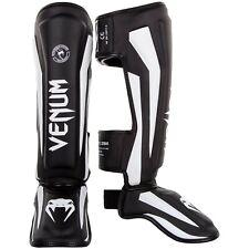 Venum Elite Standup Shinguards, Black/White, Medium