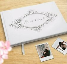 Wedding Guest Book with Pen Gift Box Set. 9''x6'' Rustic Polaroid Photo Signs.