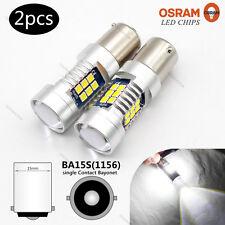 2X Super White BA15S P21W 3030 OSRAM Chip LED DRL Daytime Side Light Bulb 21SMD