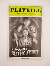 BLITHE SPIRIT PLAYBILL 2009 w/ TICKET STUB ANGELA LANSBURY SHUBERT THEATRE