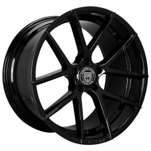 "4ea 20"" Staggered Lexani Wheels Stuttgart Full Gloss Black Rims (S45)"