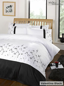 Luxury Embellished / Embroidered Bedding Duvet Quilt Cover Set & Pillowcases