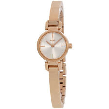 DKNY Ellington Silver Dial Ladies Rose Gold Tone Watch NY2629