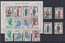 Portugal - Timor Nice S/Sheet + Set MNH