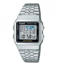 CASIO A500WA-1 Retro Digital World Time Unisex Watch DE