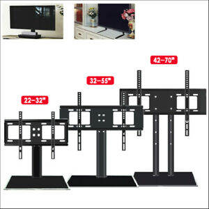 """26""""-70"""" Universal TV Stands LCD LED Flat Screen Table Pedestal Monitor Bracket"""