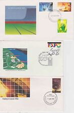 3 x FDC - Olympic Games 1984, World Expo 88, Halley's Comet 1986