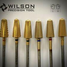 Wilson Carbide Nail Drill Bit, Upgrade Volcano Bit (2 Way) Tin