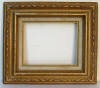 VINTAGE HAND CARVED GILDED WOOD FRAME FOR PAINTING  10 X 8 INCH