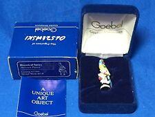 Goebel Olszewski miniature #605-P Meissen Parrot figurine in original box