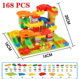 168 PCS Kids Marble Run Race Construction Track Building Blocks Set Boy Girl Toy