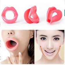 Face Slimmer Muscle Oral Exercise Mouth Lip Trainer Piece Elastic Rubber Massage