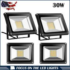 4 x 30W LED Flood Light Warm White Outdoor Security Garden Spot Lamp US Stock