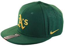 NIKE Oakland A's Perforated Adjustable Adult Cap Green Yellow Athletics Vapor