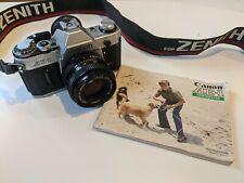 Canon AE-1 SLR Film Camera, with Canon FD 50mm F/1.8 Lens