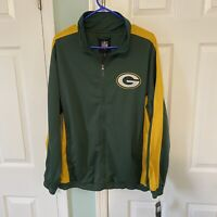 NFL Green Bay Packers Football Full Zip Men's Jacket Size Large NWT New GIII