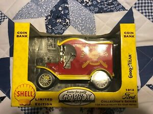 SHELL OIL COMPANY 1912 FORD VAN COIN BANK BY GEAR BOX