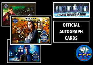 Monster Invasion Cards Rory Williams Amy Pond Doctor Who Autograph 1/3 2/3 3/3
