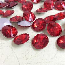 10mm Rivoli Point back Rhinestones Crystal Glass Strass Chaton Nail Art 100ps U2