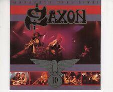 CD SAXONgreatest hits live - 10 yearsUK EX+ 1990  (B3941)