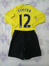 Manchester United football kit shirt+shorts size 7-8 years number 12 Foster Nike