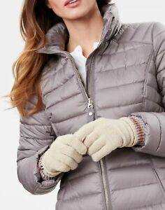 Joules Womens Vinnie Knitted Gloves - Oat - One Size