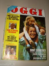 OGGI=1981/43=ROMY SCHNEIDER=CLAUDIA RIVELLI=HEATHER PARISI=ALBERTO SORDI=