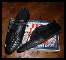Schmoove & Sons/Superbe/Chaussures/Derbies/Lacet/Gaufré/Cuir/Noir/Mode 37, Neuf