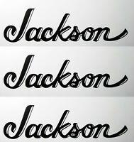 Jackson Guitar INVERTED Headstock Logo Die-Cut Vinyl Decal Sticker OEM Satin Blk