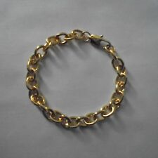 Bracelet en alliage de métal et plaqué or 18 K, modèle grosses mailles, neuf