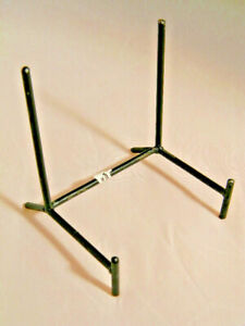 One (1) Very Sturdy Black Medium Sized Iron or Metal Easel Display Stand!