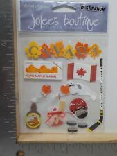 EK SUCCESS JOLEE'S BOUTIQUE CANADA DIMENSIONAL STICKERS A9564